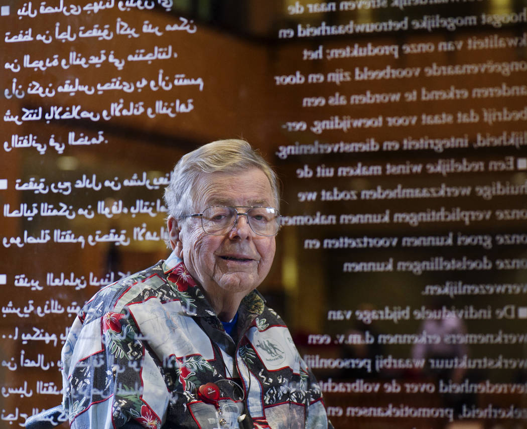 Earl Bakken, an electronics repairman who started one of the world's largest medical device companies in 1949, poses at the Medtronic World Headquarters in Fridley, Minn., Dec. 13, 2010. (David Br ...