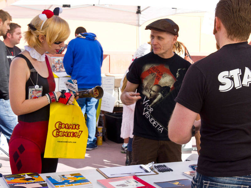 Ralph Mathieu, owner of Alternate Reality Comics, 4110 S. Maryland Parkway, sells his wares as a vendor during the 2011 Vegas Valley Comic Book Festival in Las Vegas. (Courtesy of Jeff Cordell/Ve ...