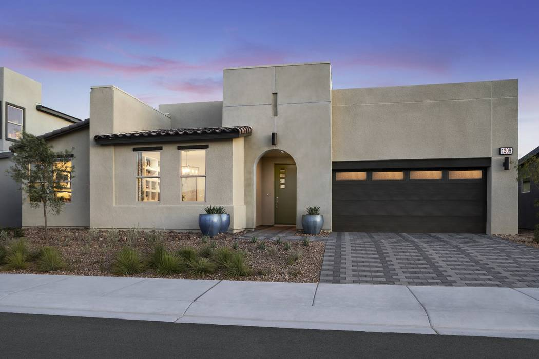 Seven model home are open daily at Pardee Homes' Larimar and Blackstone in The Villages at Tule Springs off of Revere Street south of the 215 Beltway in North Las Vegas. Pictured is the single-s ...