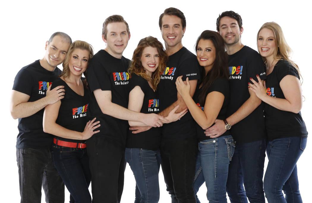 "Jerod Perez, Nicole Unger, Luke Striffler, Erin Baltsar, Zac Greenwell, Casey Weems from ""Friends The Musical Parody"" (Beckett Studios)"