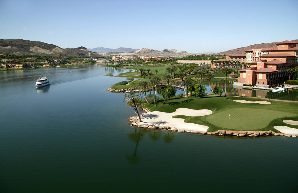 A 320-acre, man-made lake is the centerpiece of the Lake Las Vegas residential resort community. (Lake Las Vegas)