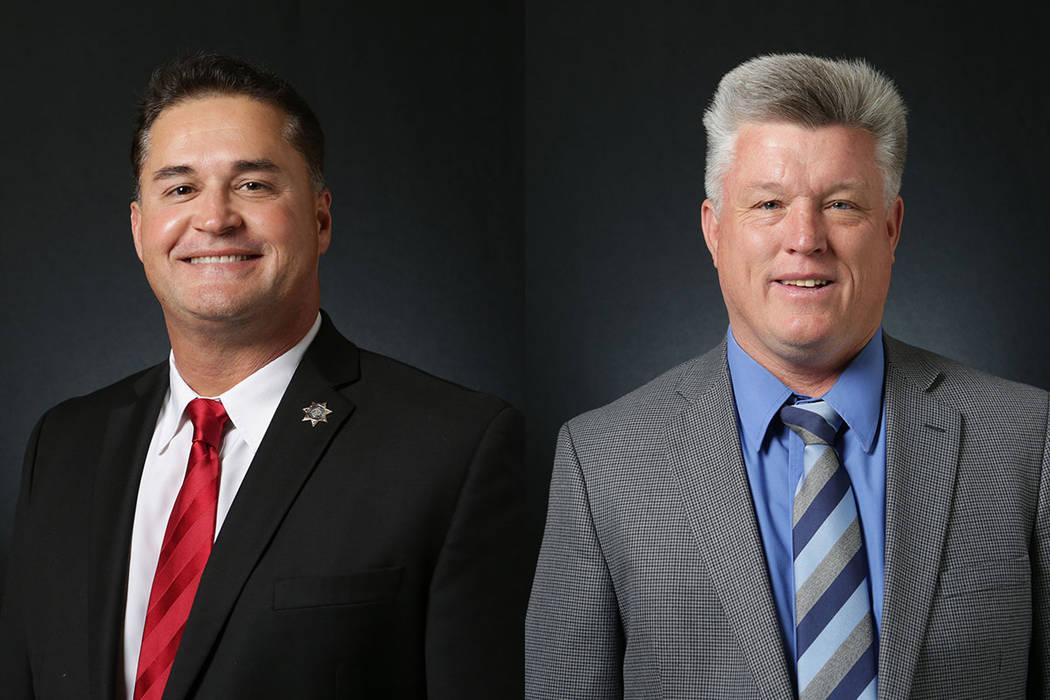 Jimmy Vega, left, and Robert Eliason. Candidates for Constable North Las Vegas. (Michael Quine/Las Vegas Review-Journal) @Vegas88s