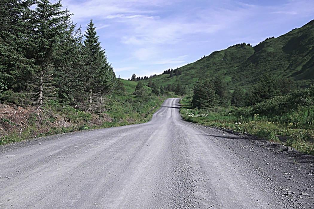 Rural gravel road, Kodiak, Alaska, September 7, 2016. (AP Photos)