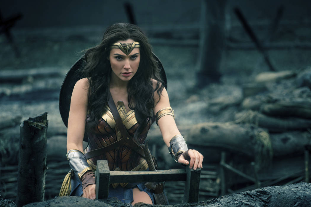 "This image released by Warner Bros. Entertainment shows Gal Gadot in a scene from ""Wonder Woman."" Warner Bros. announced Monday that ""Wonder Woman 1984"" will now open on Ju ..."