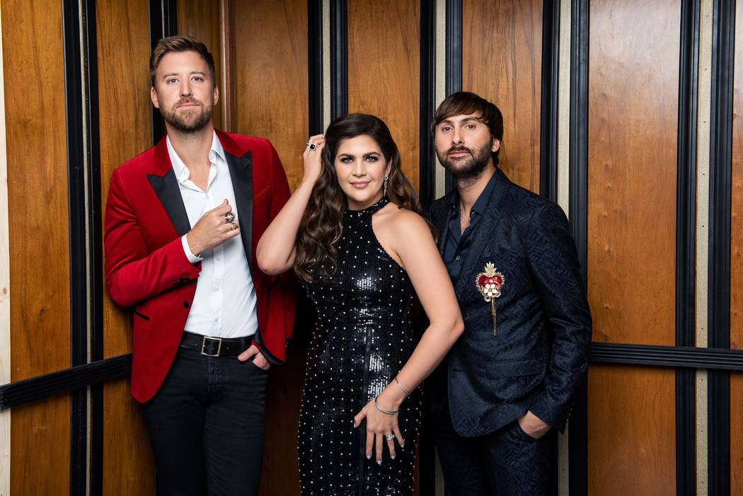 Lady Antebellum, from left, Charles Kelley, Hillary Scott and Dave Haywood, is playing a 16-run series at Pearl Concert Theater at the Palms beginning Feb. 8, 2019. (John Shearer)