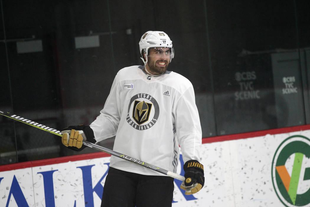 Vegas Golden Knights right wing Alex Tuch (89) during a team practice at City National Arena in Las Vegas, Tuesday, Sept. 4, 2018. Erik Verduzco Las Vegas Review-Journal @Erik_Verduzco