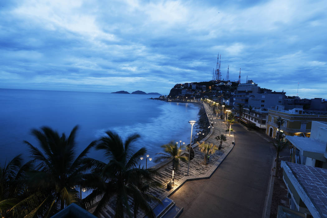 Clouds move in over Mazatlan, Mexico, Tuesday, Oct. 23, 2018, before the arrival of Hurricane Willa. Willa is headed toward a Tuesday afternoon collision with a stretch of Mexico's Pacific coast, ...