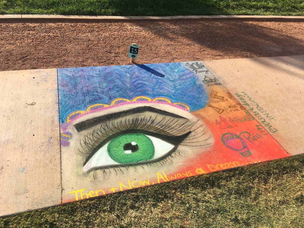"Chalktober Fest featured 35 amateur and professional artists whose work was based on the competition theme ""Spirit of Las Vegas."" (Skye Canyon)"