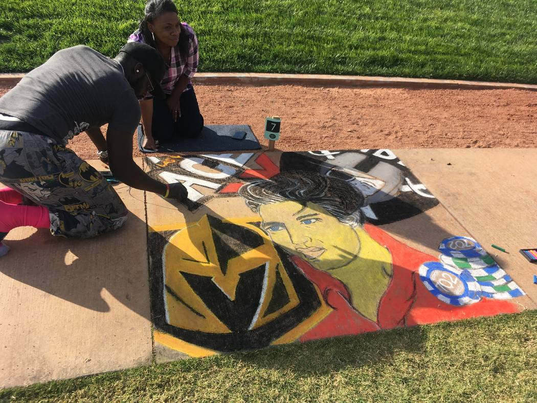 Chalktober Fest at Skye Canyon, a master-planned community in the northwest, featured local artists. (Skye Canyon)