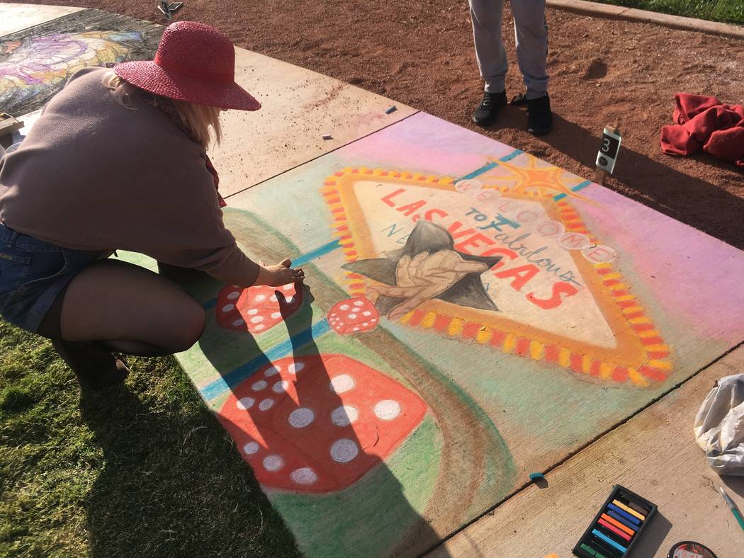 Local artists participated in the contests at Chalktober Fest at Skye Canyon, a master-planned community in the northwest valley. (Skye Canyon)