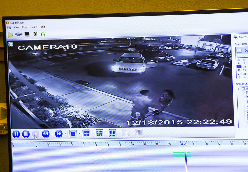 A surveillance video from Applebee's shows Tinesha Antovia Adams, right, with the father of her unborn child on the night she was shot and killed during the trial of Norman Smith, accused in the k ...