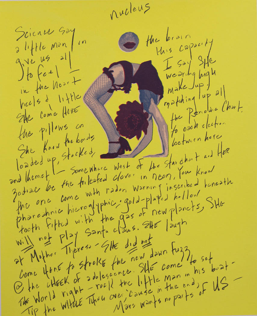 "Erica Vital-Lazarre, Literary Artist with JK Russ, Visual Artist ""SeeingSaying"" exhibition at Nevada Humanities Program Gallery"