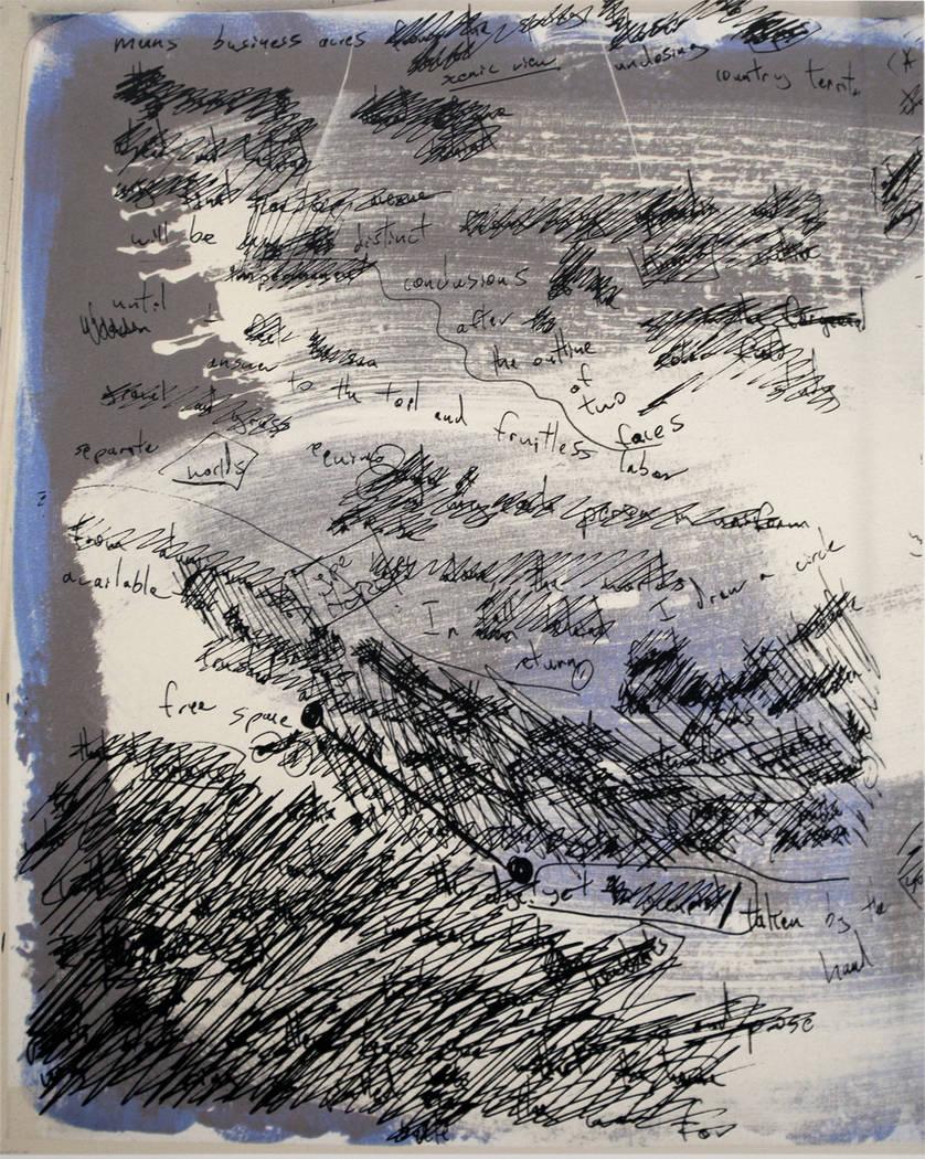 "Oscar Oswald, Literary Artist with Daniel Habegger, Visual Artist ""SeeingSaying"" exhibition at Nevada Humanities Program Gallery"