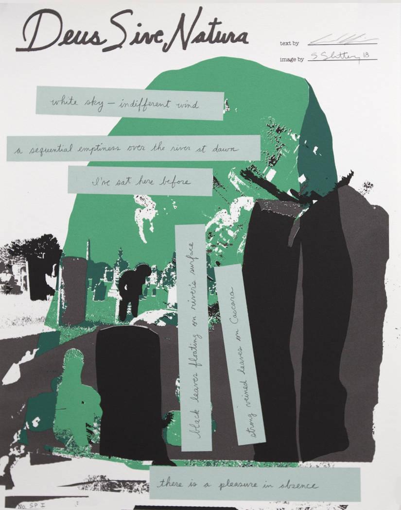 "Sam Gilpin, Literary Artist with Sean Slattery, Visual Artist ""SeeingSaying"" exhibition at Nevada Humanities Program Gallery"