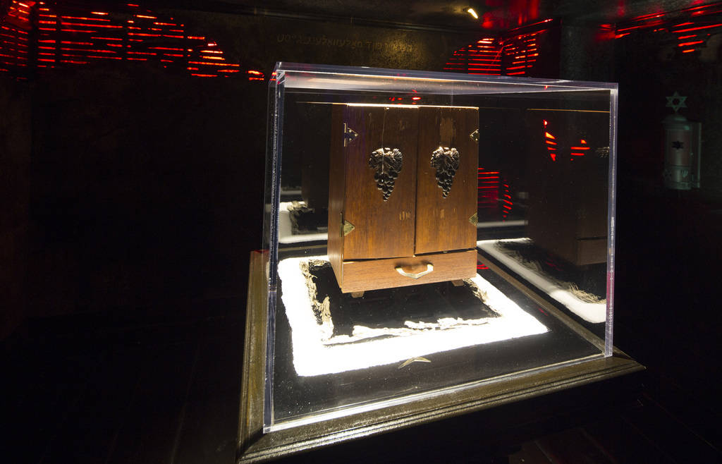 The Dybbuk Box, which is said to be worldÕs most haunted object, on display at Zak Bagans' The Haunted Museum located at 600 E. Charleston Blvd. in downtown Las Vegas on Monday, Oct. 22, 2018 ...