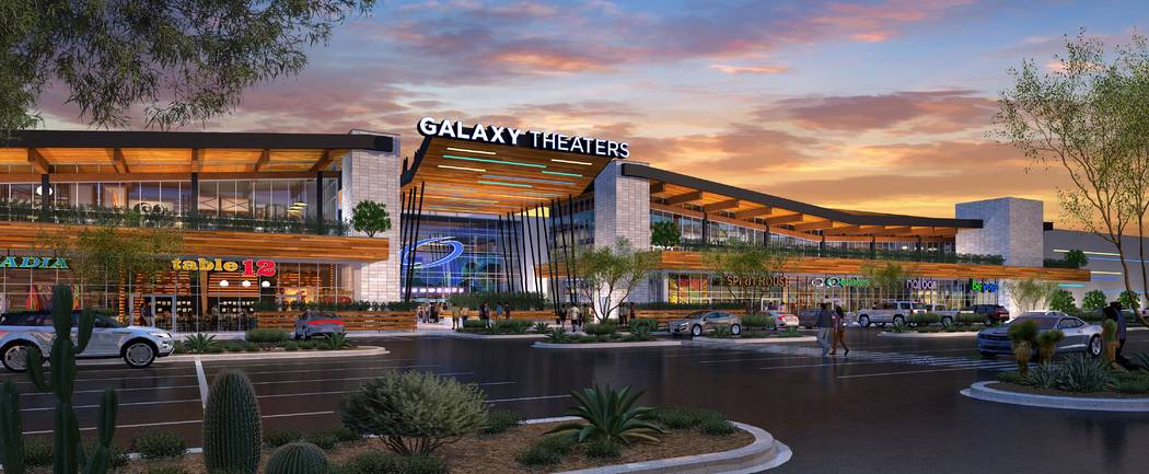 The Bend, a retail and office project near Ikea in the southwest Las Vegas Valley, would be built on Sunset Road between Durango Drive and Riley Street. (Dapper Cos.)