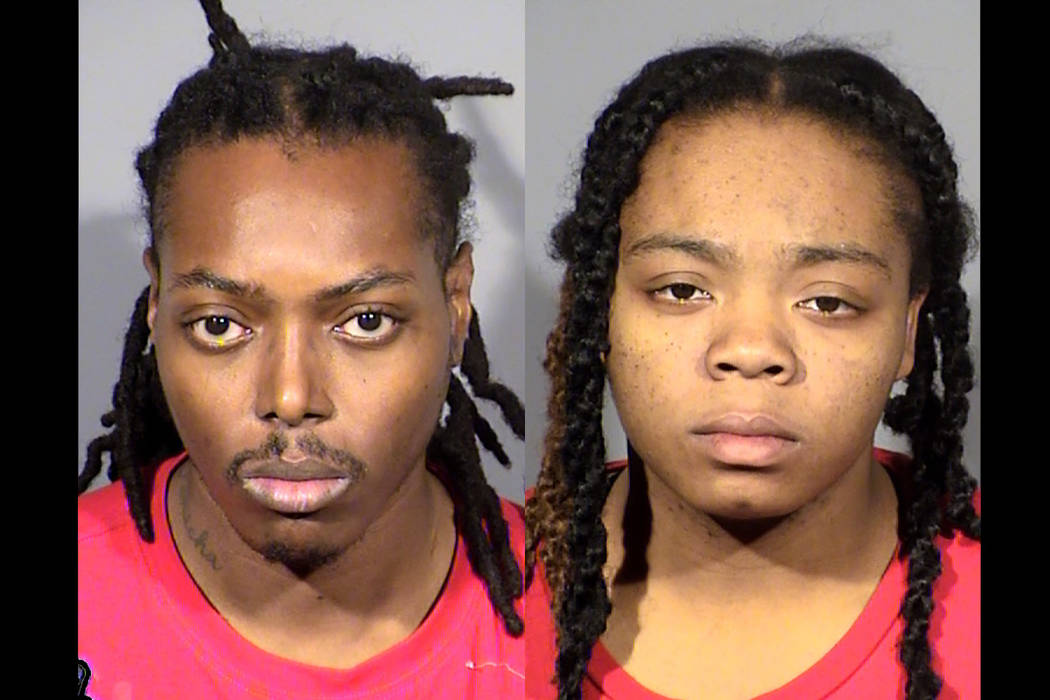 Robert Smith, left, and Brianna Brown (Las Vegas Metropolitan Police Department)