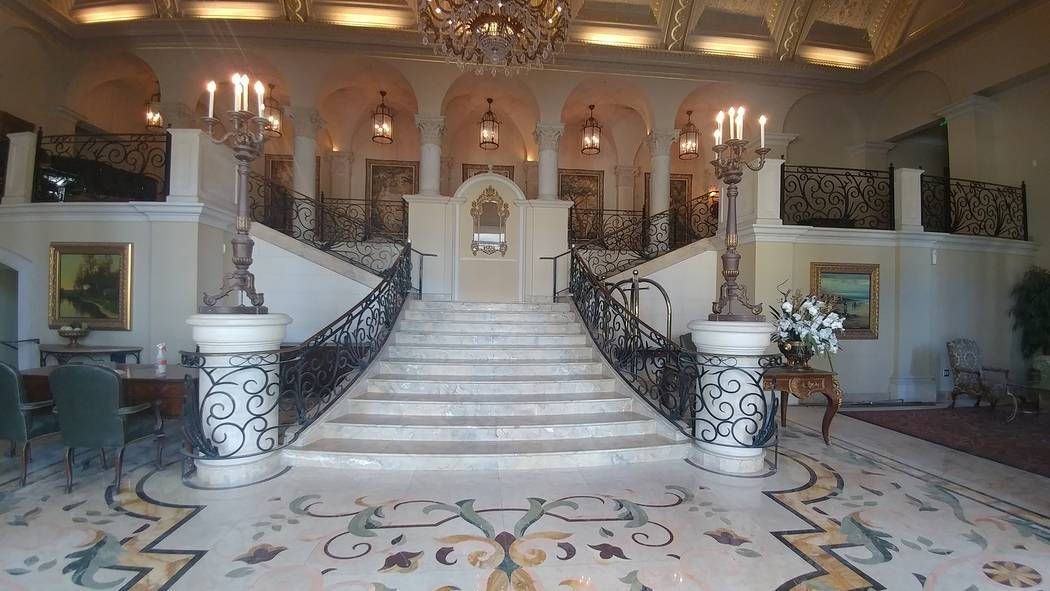 The renovated staircase at the entrance of Stirling Club at Turnberry Place. (Louis Russo)