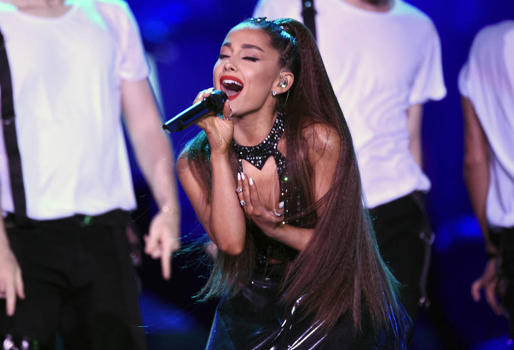 Ariana Grande performs at Wango Tango in Los Angeles on June 2, 2018. Grande will return with a new tour in 2019 nearly two years after a terrorist attack during her concert in the United Kingdom. ...