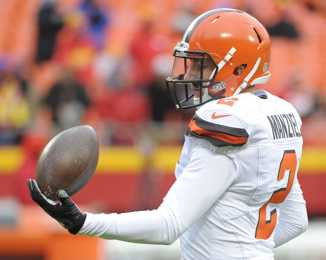Cleveland Browns quarterback Johnny Manziel in December 2015. (AP Photo/Ed Zurga)