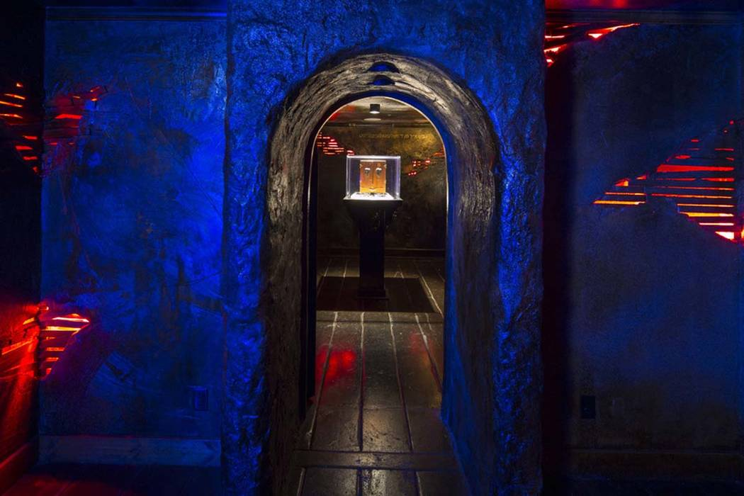 The Dybbuk Box, which is said to be world's most haunted object, on display at Zak Bagans' The Haunted Museum located at 600 E. Charleston Blvd. in downtown Las Vegas on Monday, Oct. 22, 2018. Gho ...
