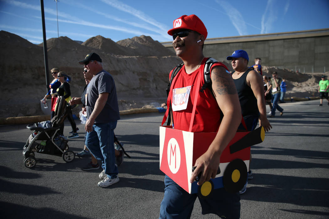 Randy Ramos during the Halloween 5K run at Fiesta Henderson hotel-casino in Las Vegas, Saturday, Oct. 27, 2018. Erik Verduzco Las Vegas Review-Journal @Erik_Verduzco