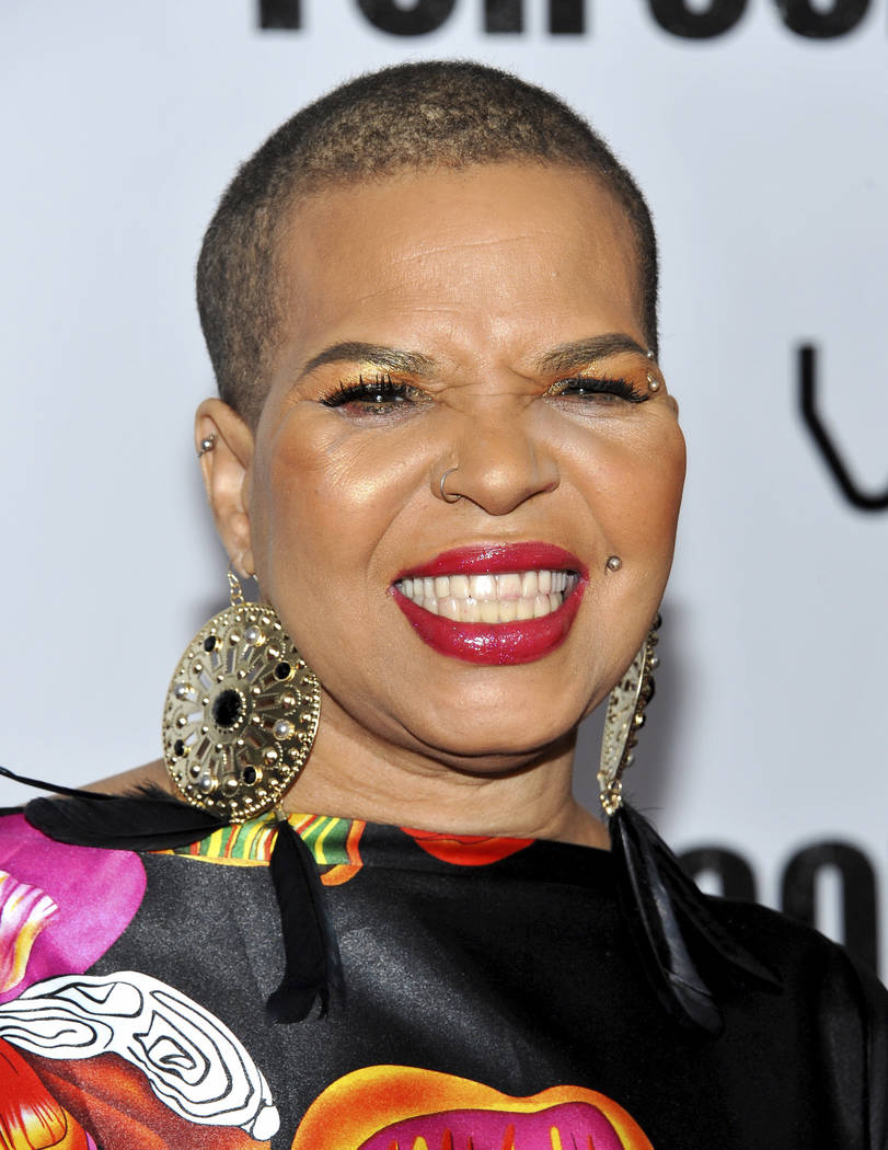 "FILE - In this Oct. 25, 2010 file photo, author Ntozake Shange attends a special screening of ""For Colored Girls"" at the Ziegfeld Theatre in New York. Playwright, poet and author Shange, whose mos ..."