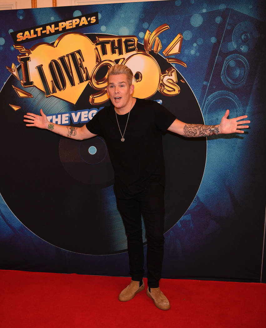 """Mark McGrath arrives at the premiere of """"I Love the 90s — The Vegas Show"""" at Paris Las Vegas on Oct. 25, 2018 in Las Vegas. (Photo by Denise Truscello/WireImage)"""
