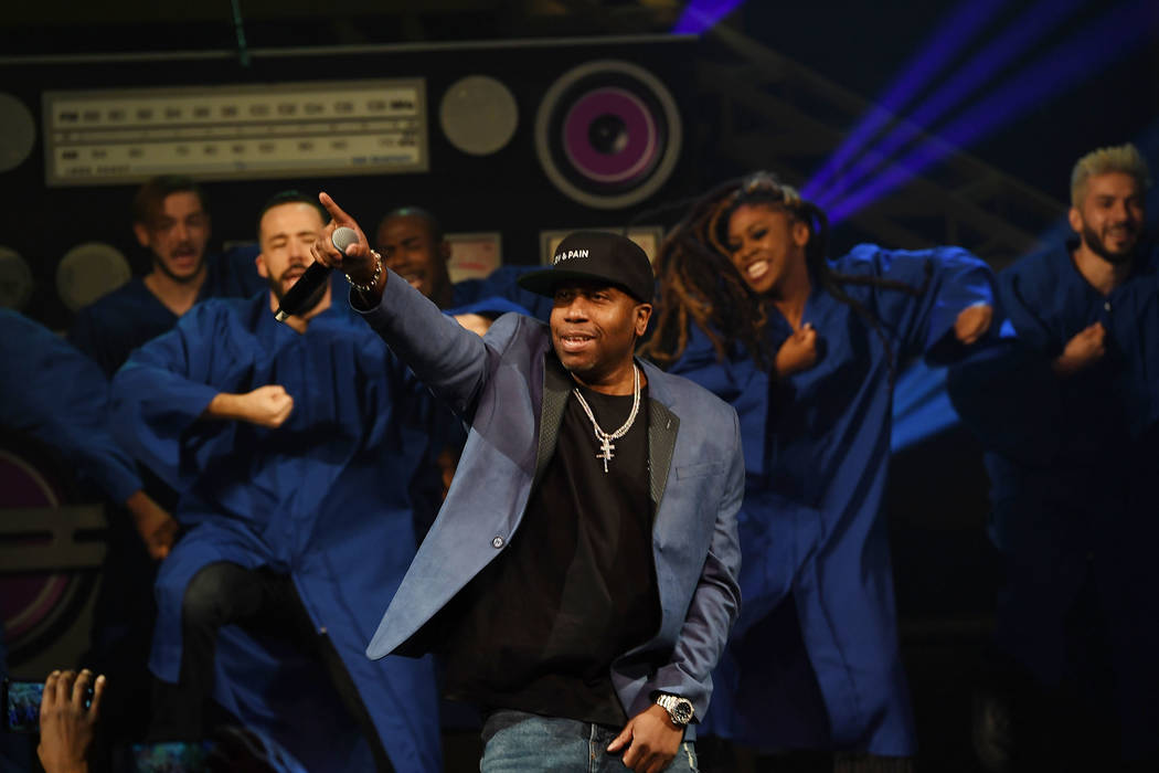 """Rob Base performs at the premiere of """"I Love the 90s — The Vegas Show"""" at Paris Las Vegas on Oct. 25, 2018, in Las Vegas. (Photo by Denise Truscello/WireImage)"""