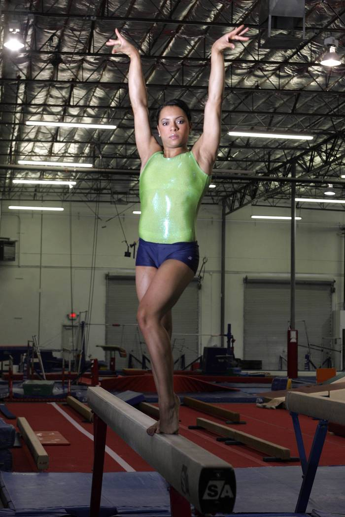 Gymnast Tasha Schwikert at Gym Cats in Las Vegas in 2004. (Review-Journal File Photo)