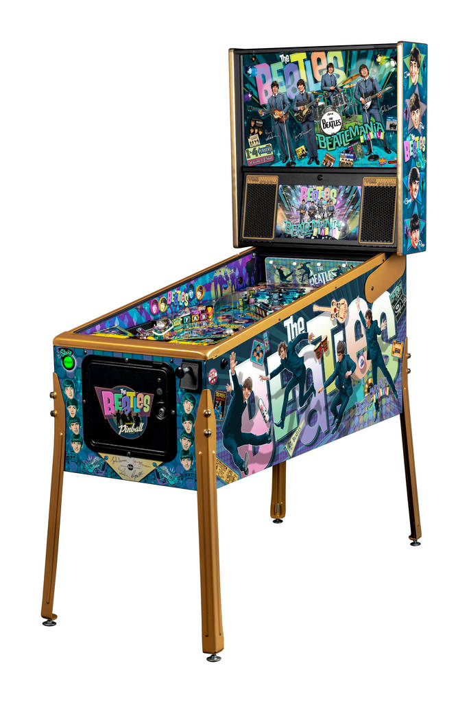 Wondrous Las Vegas Man Designs Beatles Themed Pinball Machine Las Interior Design Ideas Gentotryabchikinfo