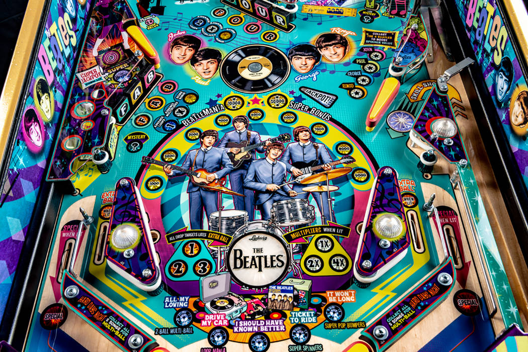 Groovy Las Vegas Man Designs Beatles Themed Pinball Machine Las Interior Design Ideas Gentotryabchikinfo