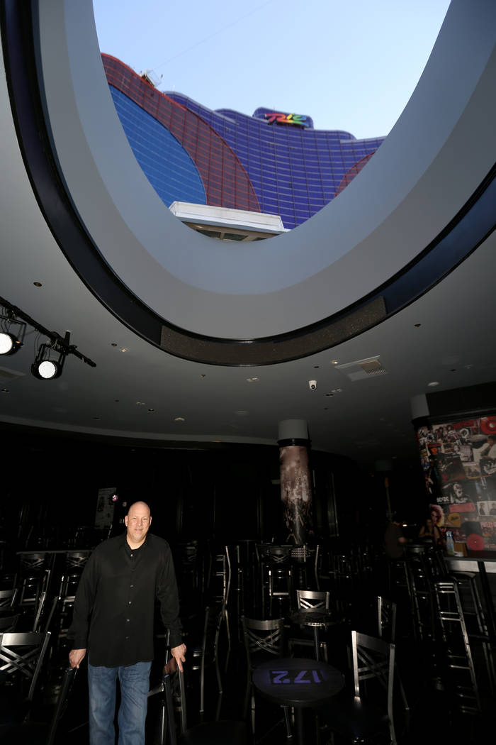 Tony Sgro, owner of 172, under an open air skylight at his new music venue inside the Rio in Las Vegas Monday, Oct. 29, 2018. K.M. Cannon Las Vegas Review-Journal @KMCannonPhoto