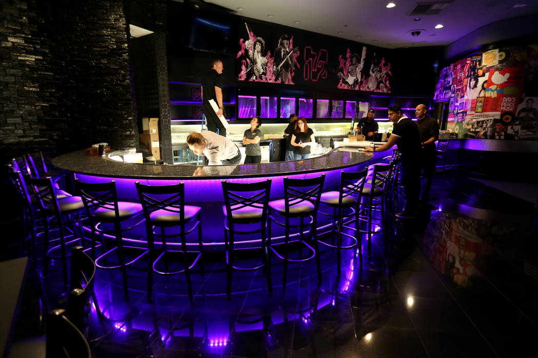 Workers put the finishing touches on the bar at 172, a new music venue inside the Rio in Las Vegas, Monday, Oct. 29, 2018. K.M. Cannon Las Vegas Review-Journal @KMCannonPhoto