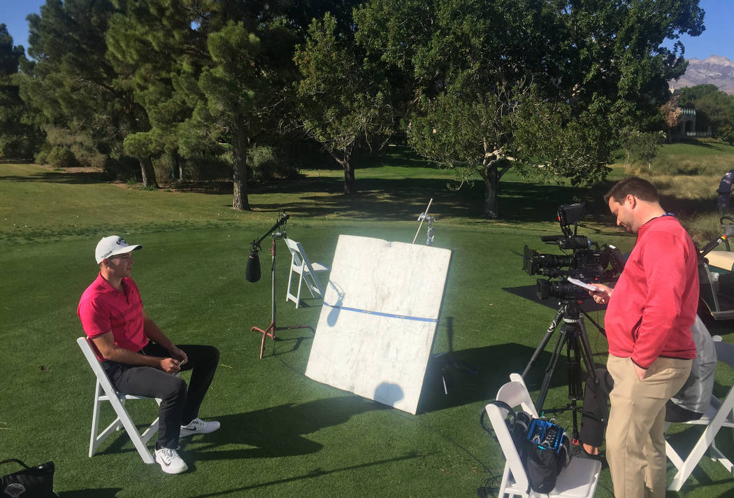 Aaron Wise talks about winning the 2017-18 PGA Tour Rookie of the Year award on Tuesday at TPC Summerlin. Wise is playing in the Shriners Hospitals for Children Open, which starts Thursday at the ...