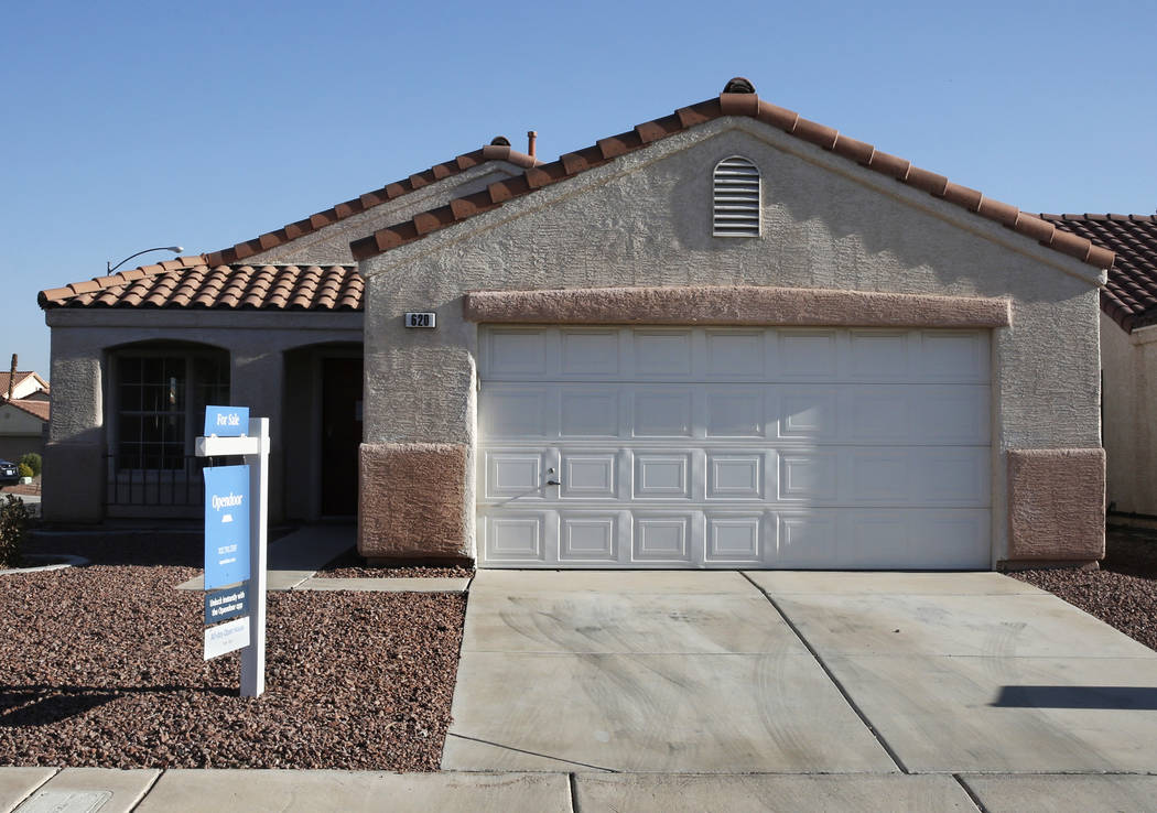 A house for sale at 620 High Grass Court photographed on Tuesday, Aug. 28, 2018, in Henderson. (Bizuayehu Tesfaye/Las Vegas Review-Journal) @bizutesfaye