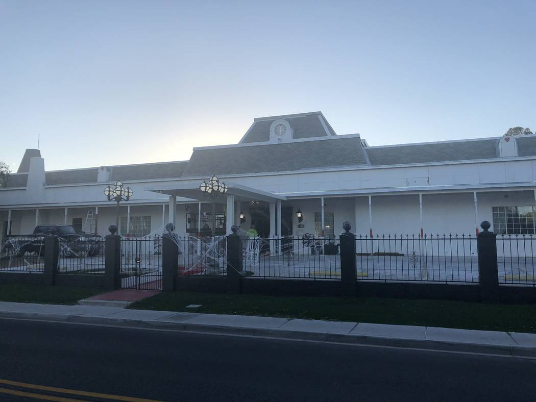 Hartland Mansion is shown on Monday, Oct. 29, 2018. (John Katsilometes/Las Vegas Review-Journal)