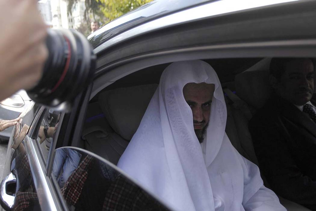 Saudi Arabia's top prosecutor Saud al-Mojeb leaves his country's consulate in Istanbul, Tuesday, Oct. 30, 2018. (Can Erok/DHA via AP)