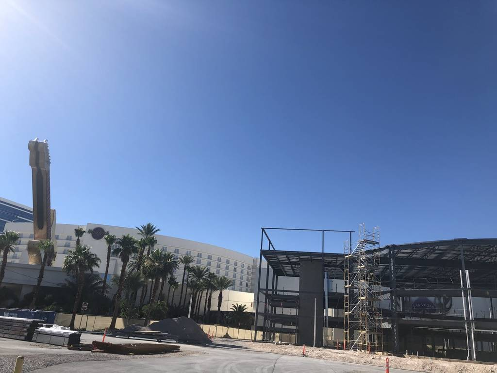 """A look at the shell of Voice Theater, which was to be home for """"The Voice -- Neon Dreams"""" at Hard Rock Hotel on June 20, 2018. (John Katsilometes)"""