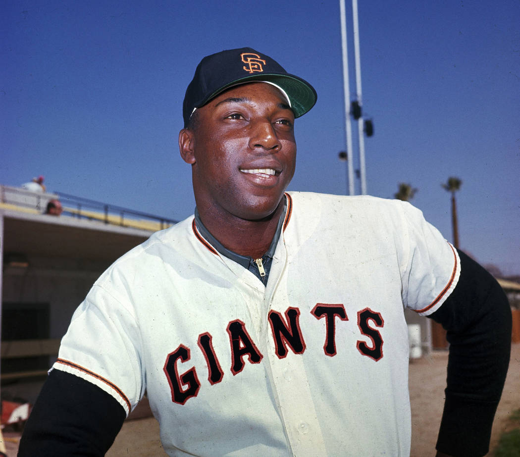 """San Francisco Giants' Willie McCovey poses for a photo in April 1964. McCovey, the sweet-swinging Hall of Famer nicknamed """"Stretch"""" for his 6-foot-4 height and those long arms, has died. He was 80 ..."""