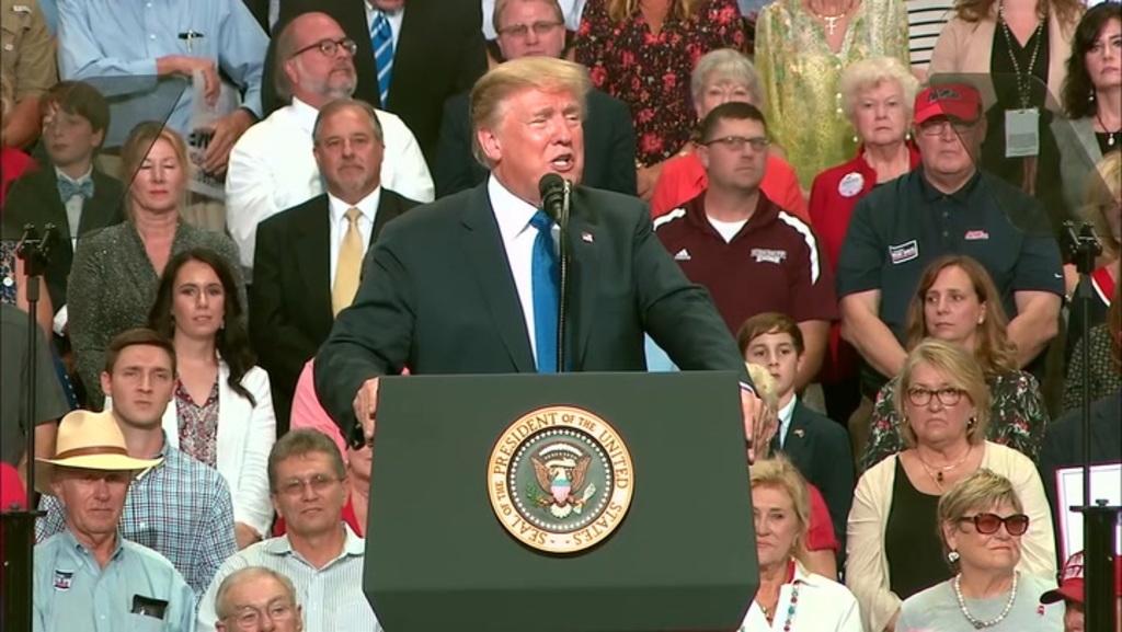 Trump mocks Kavanaugh accuser at Mississippi rally – Las Vegas Analysis-Journal thumbnail
