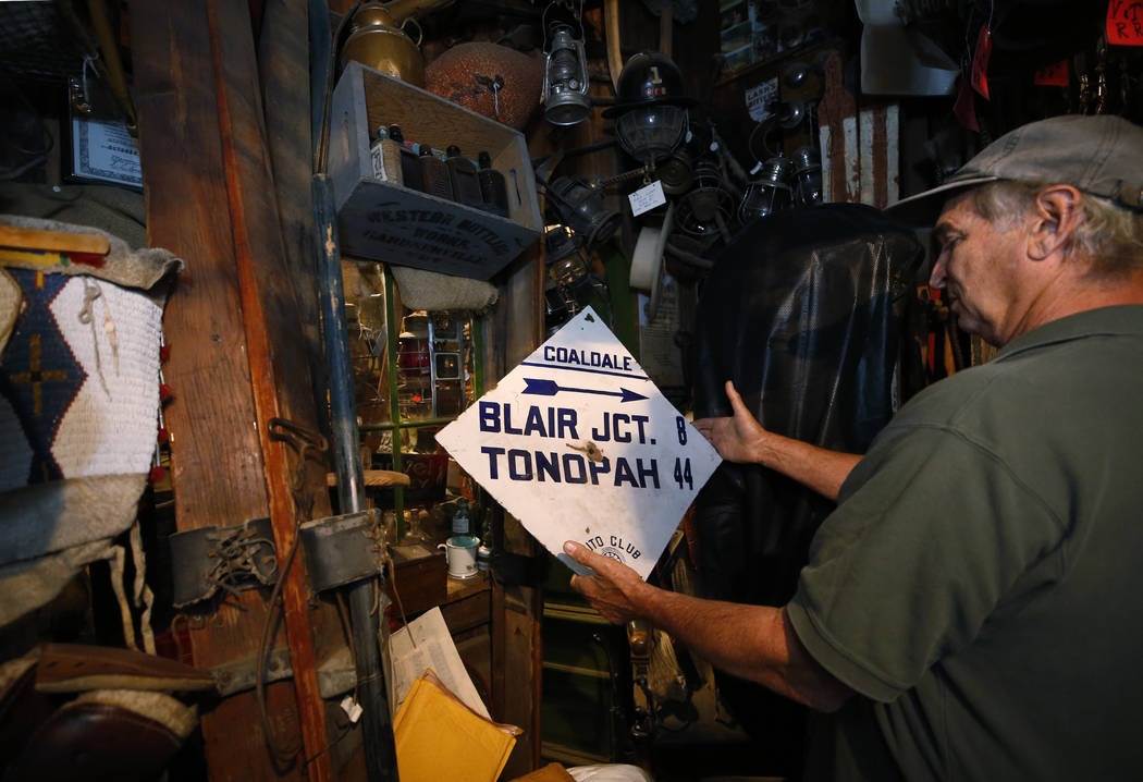 Ron Bommarito talks about the thousands of pieces of Nevada history in his Genoa Museum and Archives, in Genoa, Nev., on Thursday, June 28, 2018.CathleenAllison/Las Vegas Review-Journal