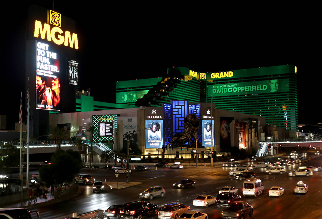 MGM Grand on the Strip in Las Vegas Wednesday, Oct. 3, 2018. K.M. Cannon Las Vegas Review-Journal @KMCannonPhoto