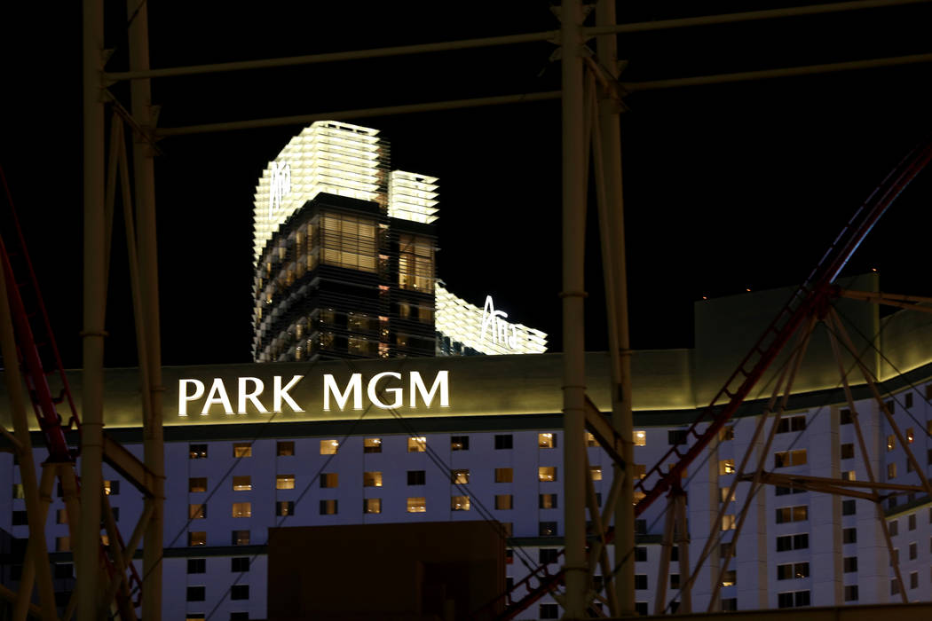 Park MGM and Aria on the Strip in Las Vegas Wednesday, Oct. 3, 2018. K.M. Cannon Las Vegas Review-Journal @KMCannonPhoto