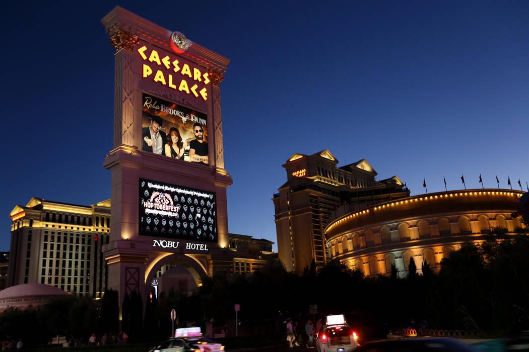 Caesars Palace on the Strip Thursday, Oct. 4, 2018. K.M. Cannon Las Vegas Review-Journal @KMCannonPhoto