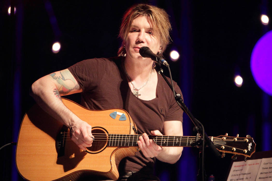 Johnny Rzeznik of the band The Goo Goo Dolls performs in concert during the group's Otis Midnight Sessions Tour at the Baby Grand on Wednesday, April 30, 2014, in Wilmington, Del. (Photo by ...