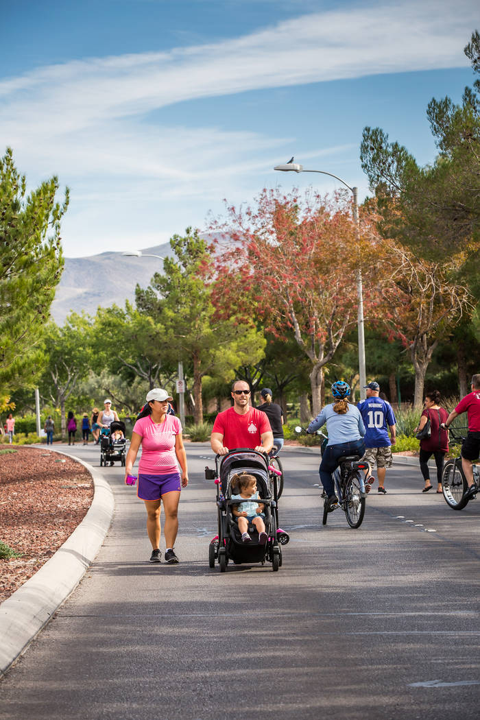 Residents enjoy the view during a previous edition of Henderson Strolll 'n Roll. Courtesy City of Henderson