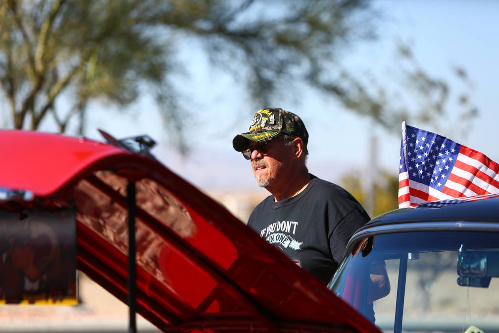 Egon Admann stands by his 1957 Chevrolet Bel Air at the 4th Annual Veterans Day Car Show and BBQ in celebration of Veterans Day at the VA Southern Nevada Healthcare System Medical Center in North ...