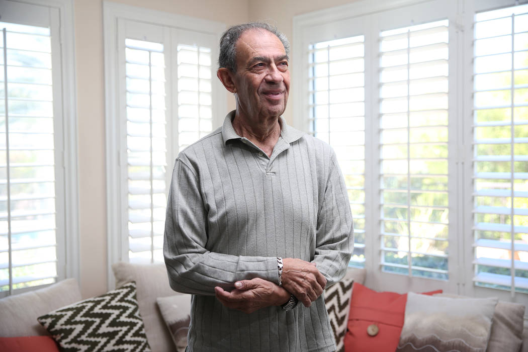 Joseph Frank, a Holocaust survivor, at his Henderson home, Wednesday, Oct. 31, 2018. Erik Verduzco Las Vegas Review-Journal @Erik_Verduzco