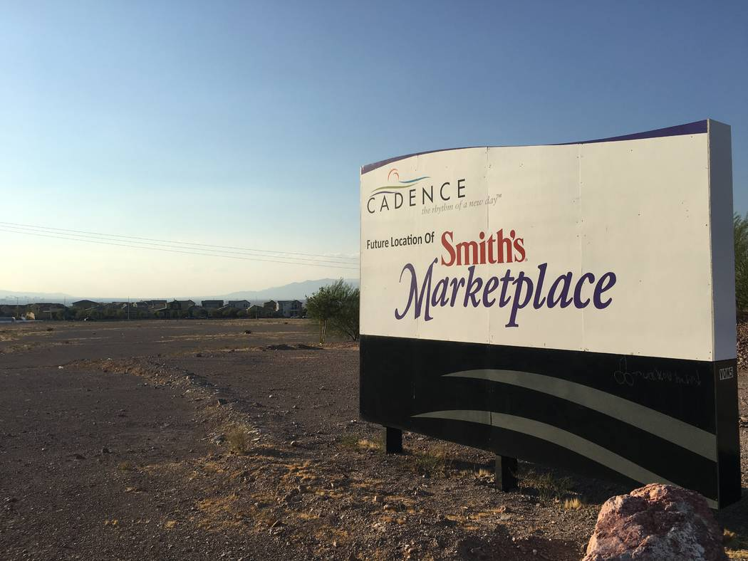 Grocery chain Smith's in 2016 acquired this property at Lake Mead Parkway and Warm Springs Road in Henderson, seen Aug. 13, 2018, for a new store. It has not been built. (Eli Segall/Las Vegas Revi ...